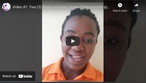VIDEO : Twa Bagay nan kad Jounen Entenasyonal Ijyen Manstryel!