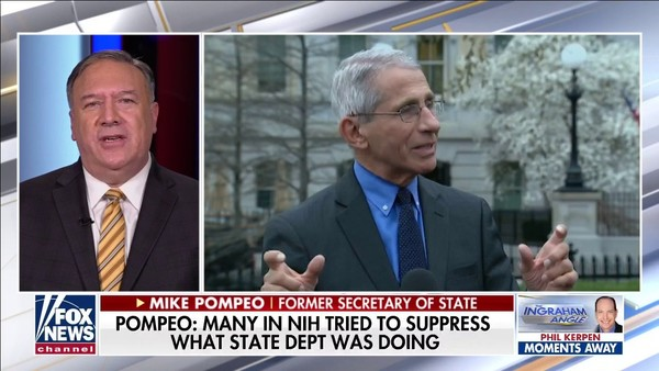 Pompeo: NIH tried to suppress State Dept virus probe; Fauci repeating Chinese Communist Party 'excuses'   Fox News
