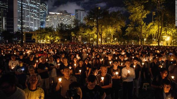 Tiananmen Square massacre vigil in Hong Kong set the city apart from China. Those days may be over - CNN