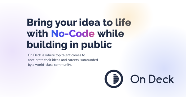 Become a prolific no-coder, while building in public.In 8 weeks.
