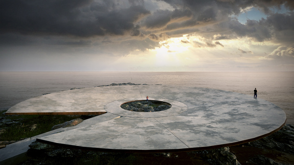 An artist's impression of the proposed COVID-19 memorial in Uraguay