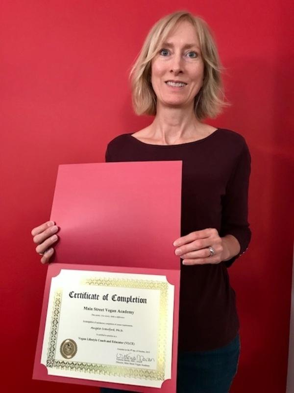 Angela Crawford, Main Street Vegan Academy graduate.