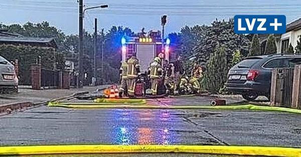Starkregen fordert Delitzscher Feuerwehren