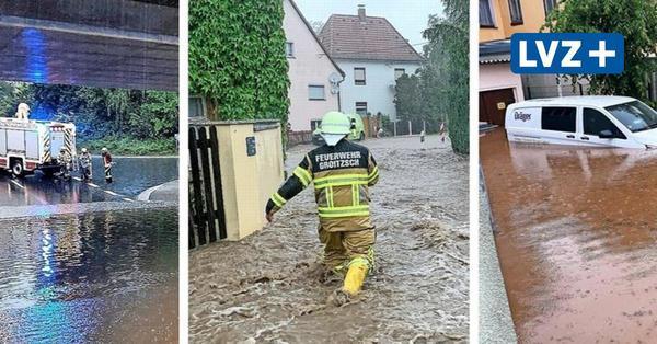 Unwetter im Landkreis Leipzig: Starkregen setzt Grimma und Groitzscher Ortsteil unter Wasser