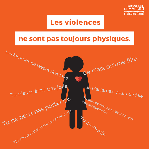 Les violences ne sont pas toujours physiques