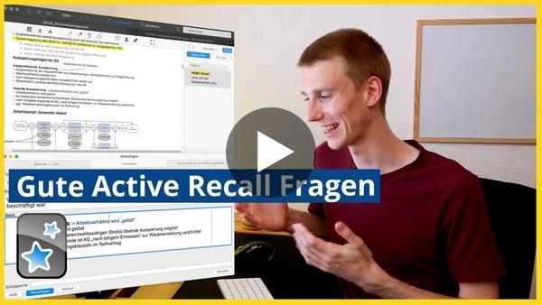 Besser fragen, besser lernen! | Active Recall Karteikarten mit Anki erstellen