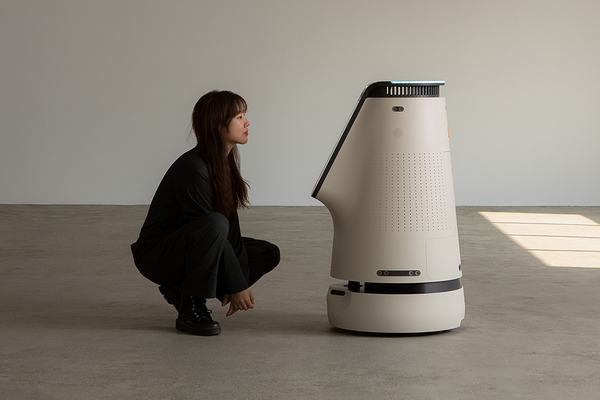 This robot is an autonomous product designed for enhancing digital interactions like a modern R2-D2!