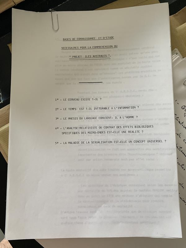 Introduction au dossier de recherche de Marc Liblin