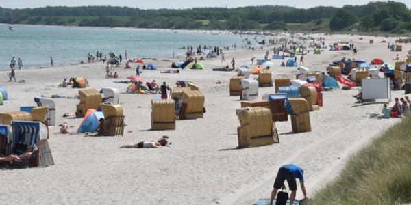 Sehlendorfer Strand im KN-Check: Platz für Tausende Badegäste an der Ostsee