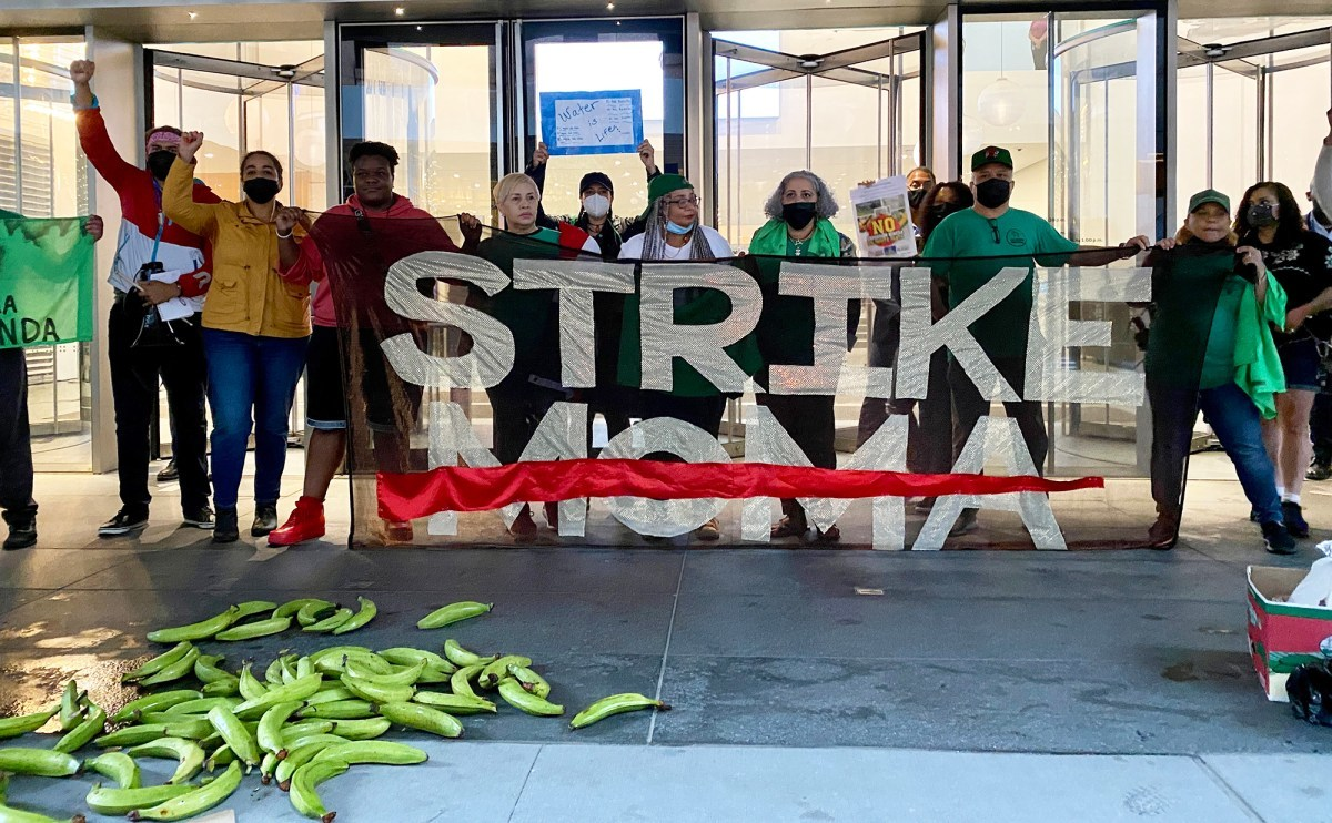 """The ninth week of the """"Strike MoMA"""" protests at the Museum of Modern Art in New York"""