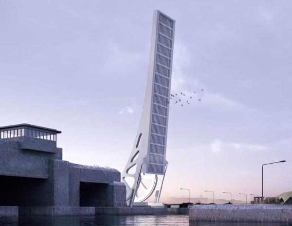 Dunkerque - Un nouveau pont à l'Ecluse Watier - Een nieuwe brug voor de sluis Watier