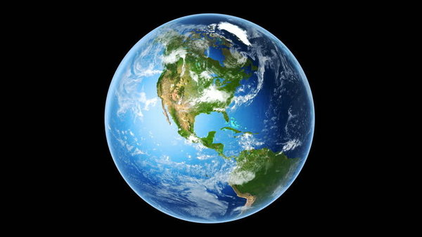 Earth. While we can't take a photo like this without being in outer space, we believe it to be an accurate representation of Earth.