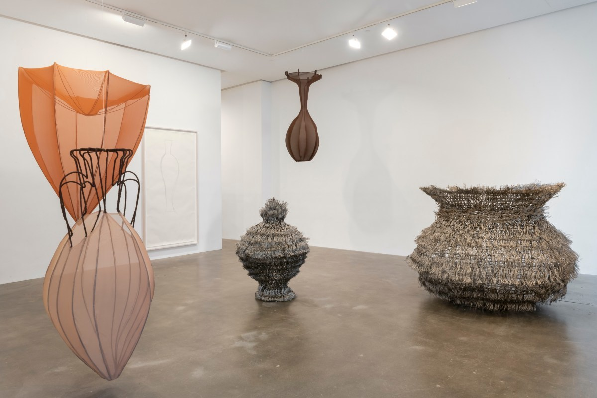 """Installation view of """"Maren Hassinger: We Are All Vessels"""" (photo by Adam Reich)"""