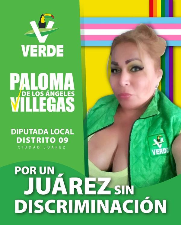 La bandera trans y la bandera arcoíris formaron parte de la publicidad de Paloma en estas elecciones.