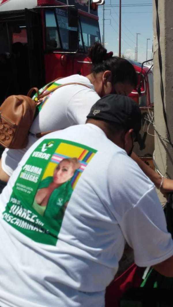 """""""Por un Juárez sin discriminación"""" fue el lema de campaña de Paloma Villegas."""