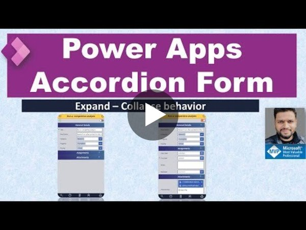 Power Apps Accordion Form (Expand/Collapse Form)