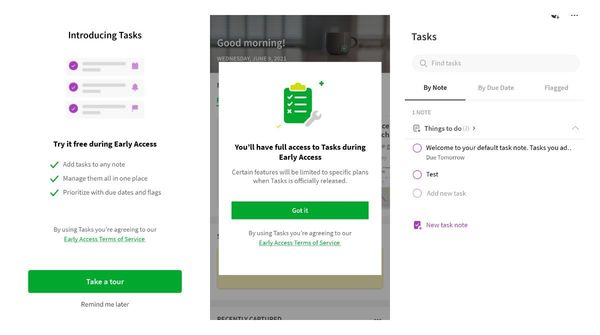 Evernote beta releasing a free Tasks feature in Early Access on Android