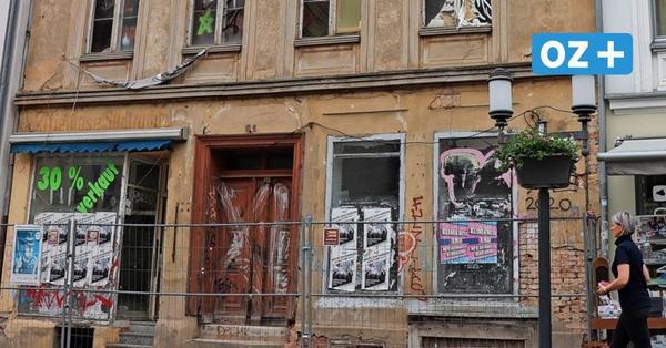 Ruine in der Langen Straße in Greifswald: Wird der Altbau nun saniert?