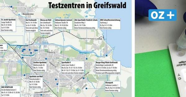 Hier gibt es in Greifswald ein Schnelltestzentrum für Corona