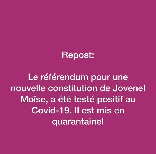 Blague à part, le referendum en effet a été officiellemt reporté sine die sur le compte de la pandémie.