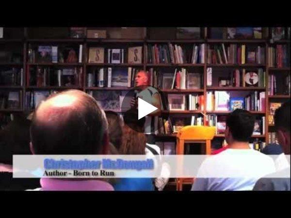 Born to Run author Chris McDougall & Dr. Romanov at the Naked Tour in Miami, FL