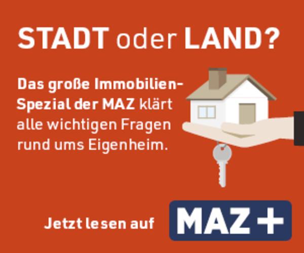 Per Klick aufs Bild geht es zum großen Immobilien-Spezial der MAZ.