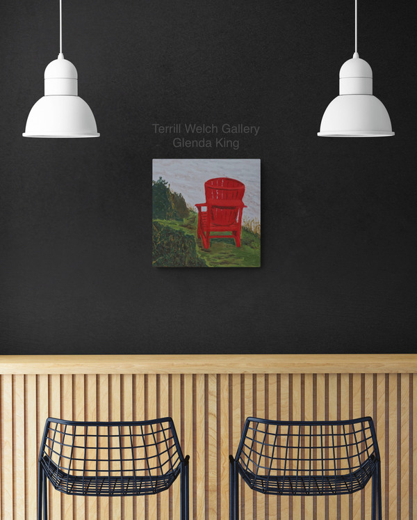 """Room View - Sold! """"The Red Chair"""" by Glenda King"""