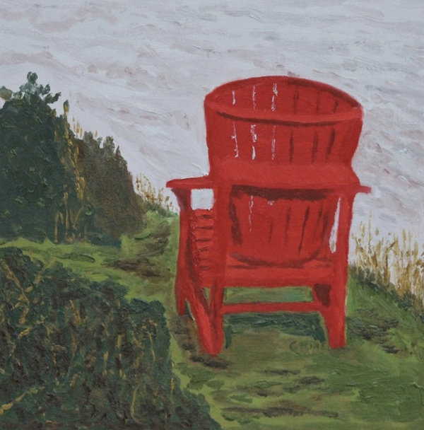 """Sold! """"The Red Chair"""" by Glenda King"""