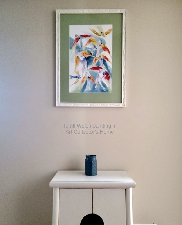 In Art Collector's home - Intellectual Cyborgs and Goddesses by Terrill Welch