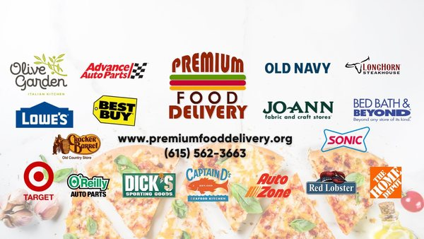 Premium Food Delivery LLC is Now Delivering for ALL of these Vendors!
