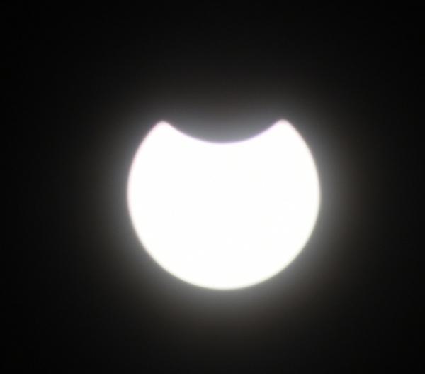 Die partielle Sonnenfinsternis war am Donnerstag auch über Schaumburg zu sehen. Leserfoto: Gerald Schaper