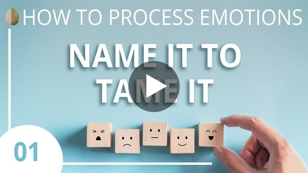 Name it to Tame it - How to Process Emotions