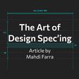 The Art of Design Spec'ing