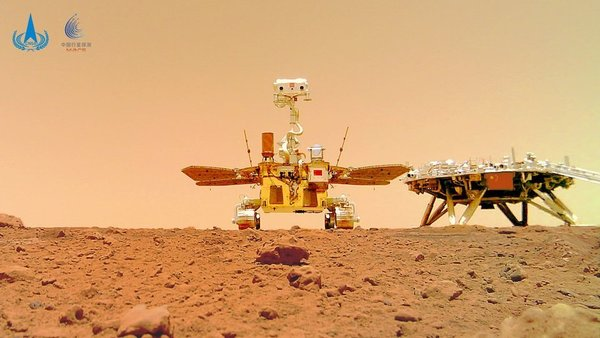 Chinese Zhurong rover and lander on Mars