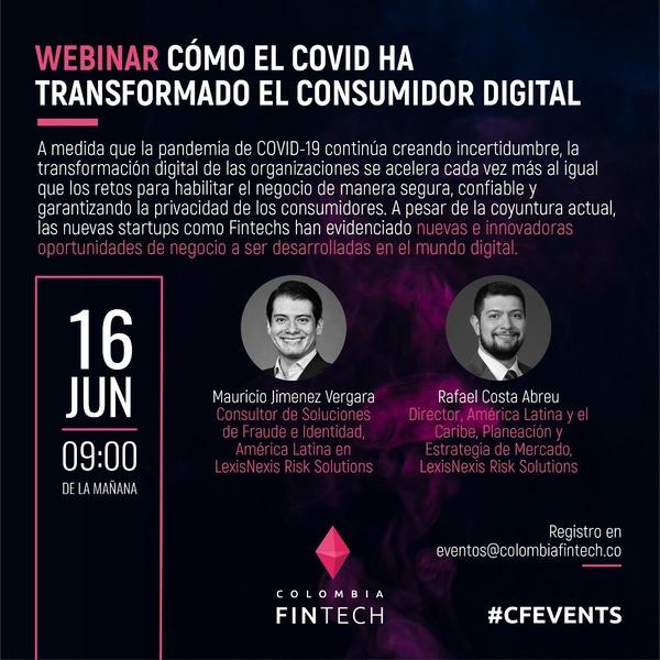 #CFEvents Este miércoles 9:00 AM ⏰ Imperdible espacio de cómo el covid ha transformado al consumidor #digital 💃🏻