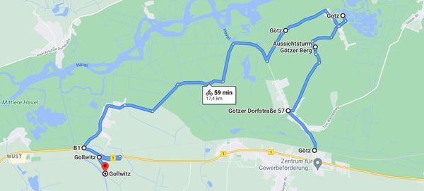 Für eine detaillierte Ansicht, klicken Sie bitte auf die Karte. Vom Ziel geht es am Emster-Kanal entlang nach Süden, wo der zweite Teil der Tour beginnt. Foto: Google Maps