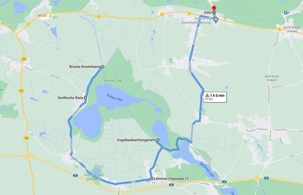 Für eine detaillierte Ansicht, klicken Sie bitte auf die Karte. Foto:Google Maps