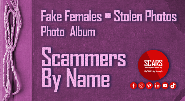 Stolen Photos Of Women/Females – June 2021 – Part #2 – Stolen Photos Used By Scammers