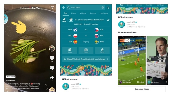 Now you can follow Euro 2020 updates without leaving TikTok