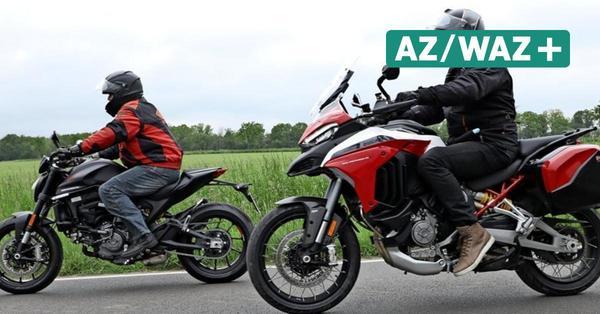 Nagelneue Ducatis: Die WAZ fuhr mit Monster und Multistrada durch den Elm