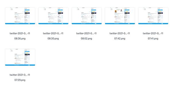 Create Album of Twitter Profile Screenshot with Nocode