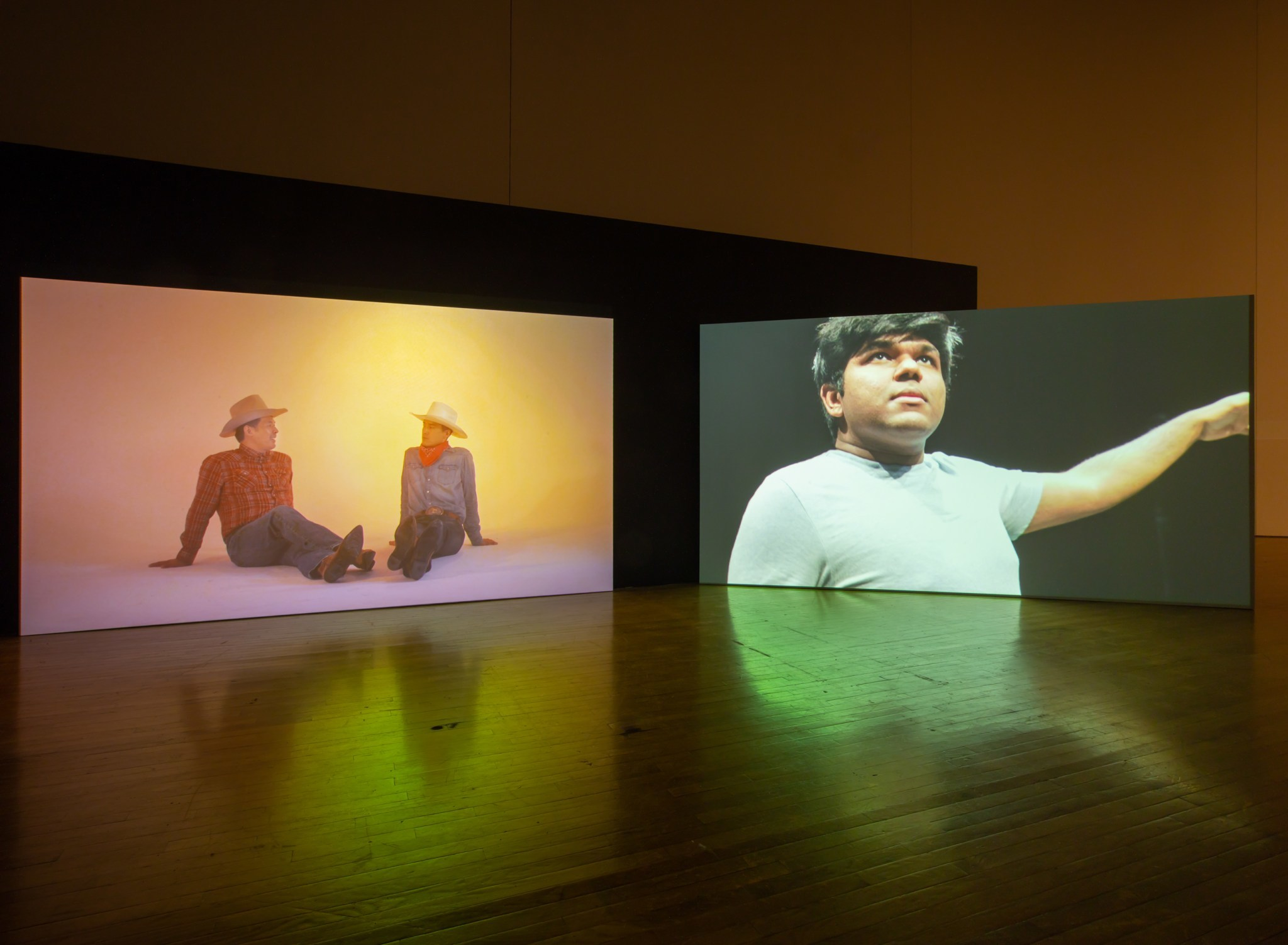 """Installation view of """"Kenneth Tam: Silent Spikes,"""" Queens Museum"""