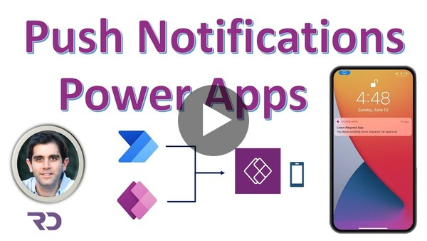 Create push notifications for Power Apps mobile - Tutorial