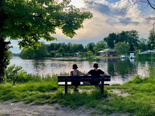 Entspannung am Havelufer in Rathenow. (Foto: Christin Schmidt)