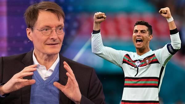 Wasser statt Cola: Karl Lauterbach lobt Cristiano Ronaldo – ein Fan ist er trotzdem nicht