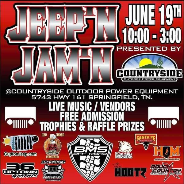 Jeep'n & Jam'n | SATURDAY, June 19 @ 10–3pm