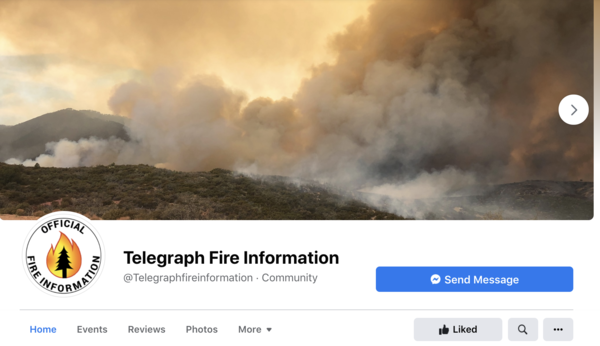 The Telegraph Fire Information Facebook page