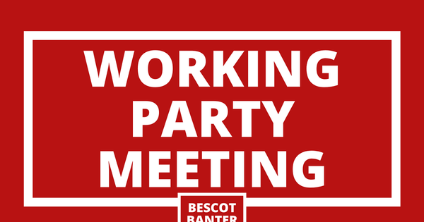 Working Party Meeting: Monday, 14th June 2021