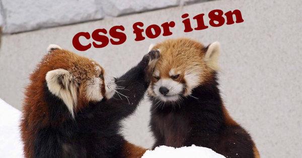 CSS for internationalisation