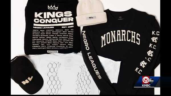 Negro Leagues Baseball-themed streetwear being sold